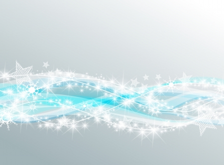 Silver christmas background with wave snowfall Vector