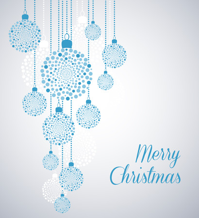 blue balls: Christmas background with Christmas balls