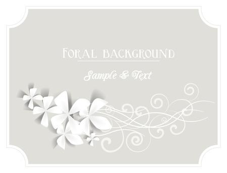 frame met bloemen op een grijze achtergrond Stock Illustratie