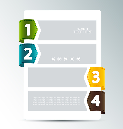 Modern business banner numbered options Vector