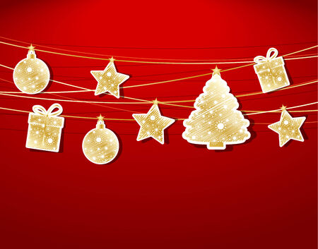 different shapes: Set Christmas labels with different shapes Christmas decoration