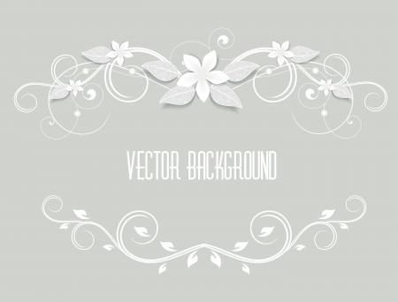 Rahmen mit weißen Blumen geschmückt Standard-Bild - 23832856