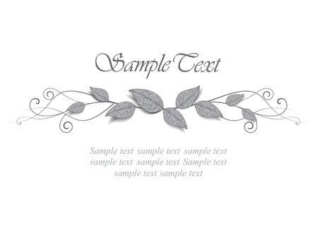 decoration of leaves with place for text Vector