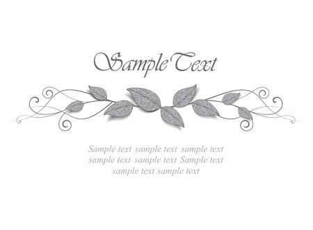 for text: decorazione di foglie con il posto per il testo