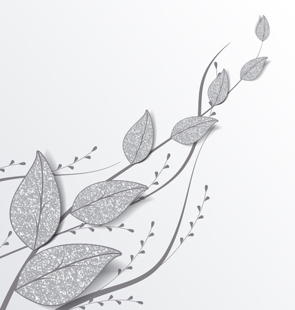 decoration of leaves with place for text Illustration