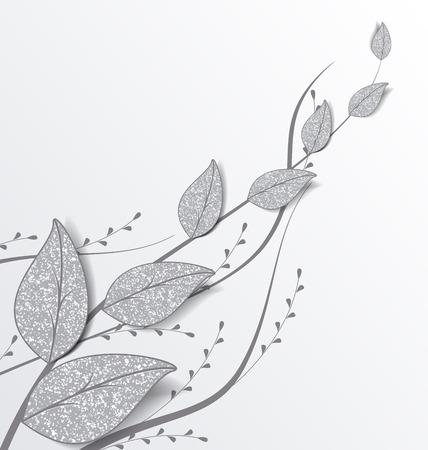 decoratie van bladeren met plaats voor tekst