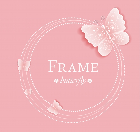 butterfly background: Pink background with butterflies on the frame
