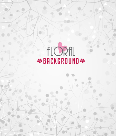 Romantic floral background with place for text Vector