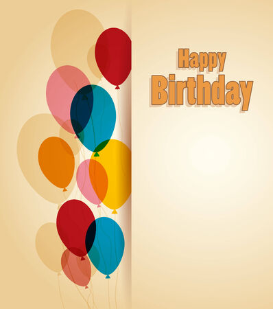 Retro greeting card Happy birthday with place for text Vector