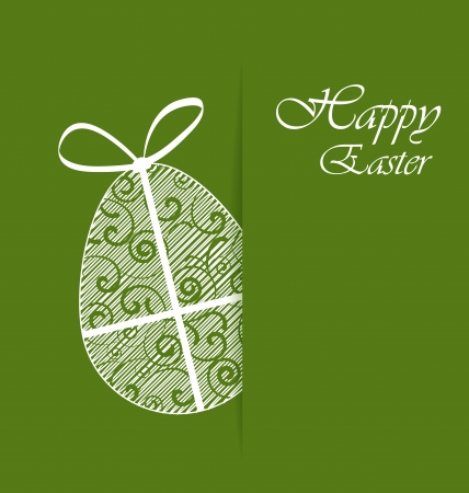 Green with Easter egg Vector