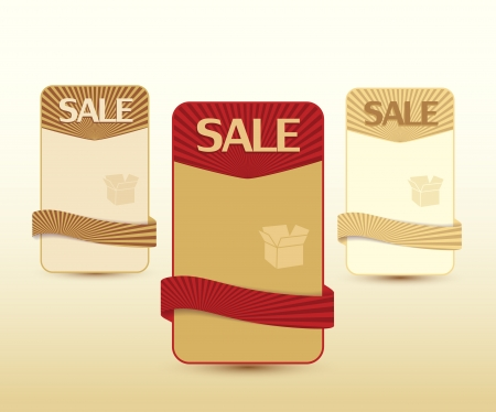 Retro banners for product description and sale Vector