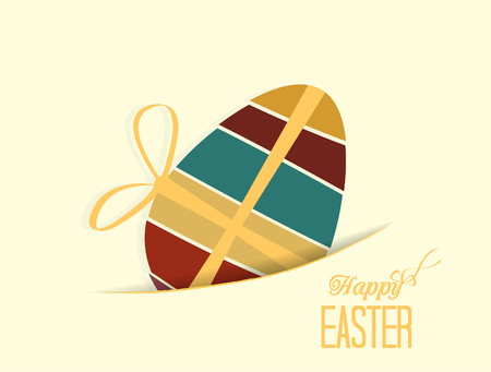 Retro background with Easter eggs Vector
