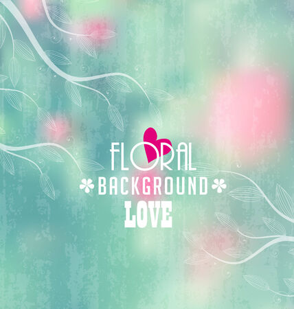 Colorful floral background with place for text Vector