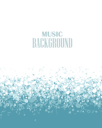 musical blue background with notes