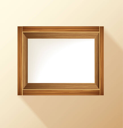 wooden frame with place for text and product Vector