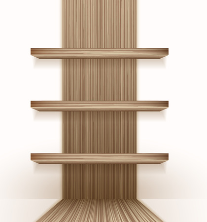 shelf wall: Background with a wooden boards texture modern pattern