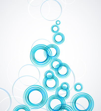Abstract blue background with circles
