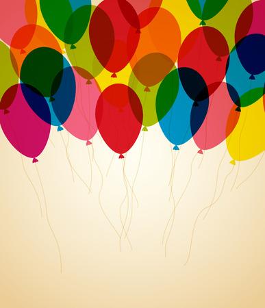 Rétro carte de voeux de joyeux anniversaire avec place pour le texte Banque d'images - 27524794