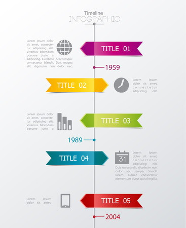 Template timeline for your text Vector