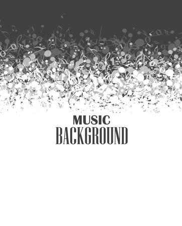 white party: Abstracte muziek achtergrond met notities