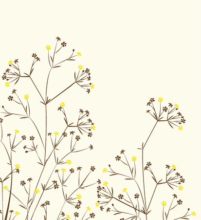 elements of nature: Colorful floral background with place for text