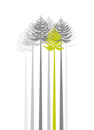 흰색 배경에 나무의 그룹