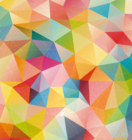 color image creativity: Retro pattern of geometric shapes, color triangle