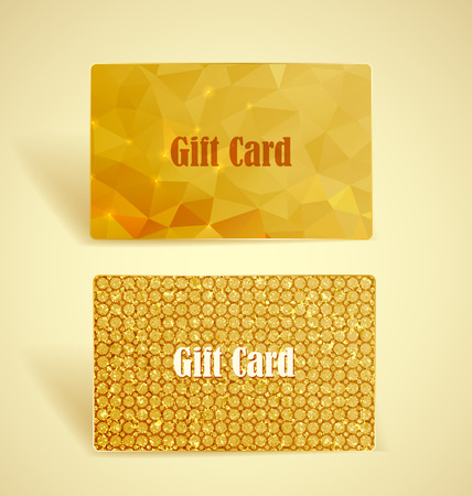 Two gift cards with geometric shapes and textures Vector