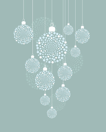 Vector Christmas background with decorated Christmas balls Vectores
