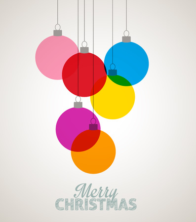 Vector Christmas balls on a light background