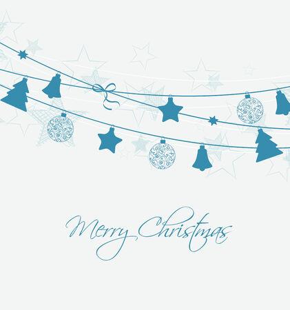 Christmas decoration with stars and Christmas balls