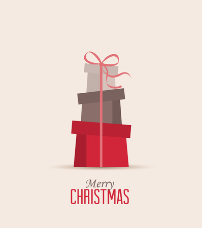 christmas presents: Retro decorative Christmas presents, vector Christmas card