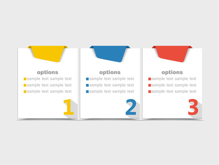numbered: Vector design template with color numbered banners Illustration