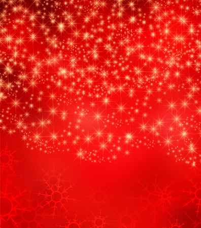 Christmas background with falling snow and stars Vector