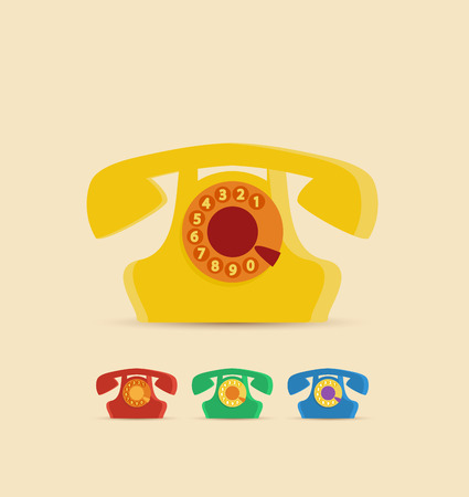 phone button: Retro Phone in a set of different colors