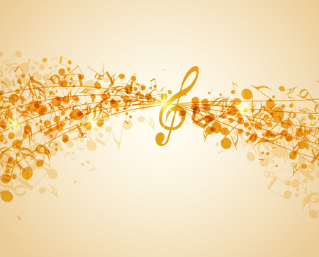 musica clasica: Ilustración vectorial de un fondo de música abstracta