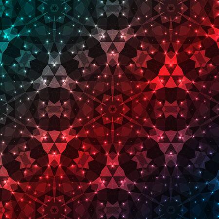background kaleidoscope: Vector kaleidoscope pattern background, Abstract triangles background Illustration