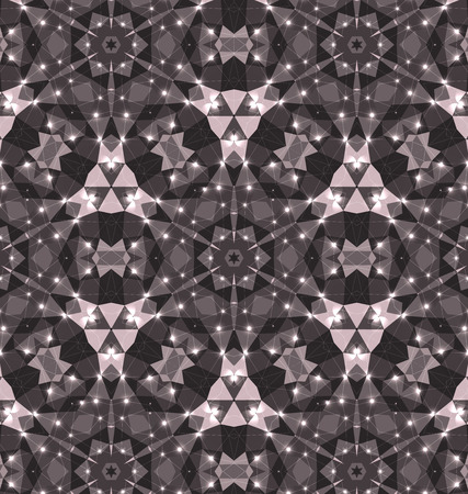 background kaleidoscope: Vector kaleidoscope pattern background, Abstract triangles background Illustration
