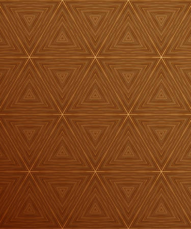 floorboard: Abstract brown background with triangles vector illustration
