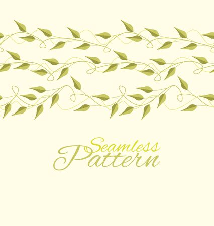 Seamless Pattern with green leaves vector illustration Vector