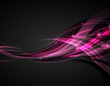 abstract waves: Abstract waves pink on a dark background