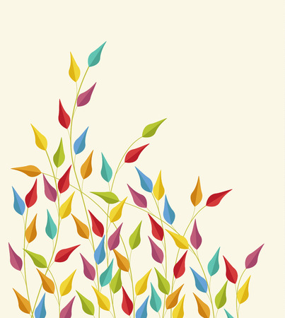 coloured: Coloured leaves vector illustration