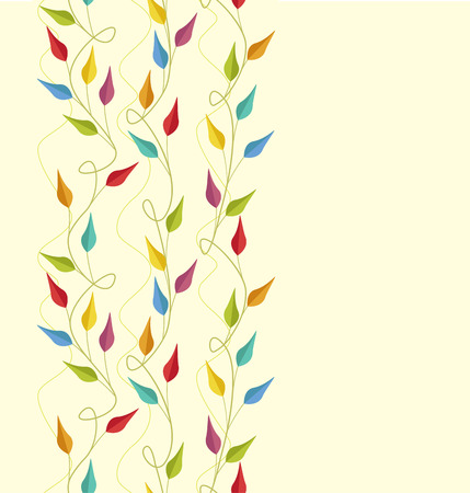 coloured: Seamless Pattern with coloured leaves vector illustration