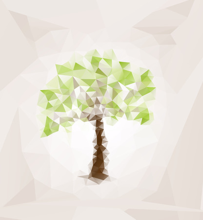 Vector abstract image of a triangle with the shape of the tree Vector
