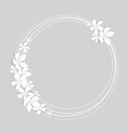 Greeting card floral with place for text Illustration