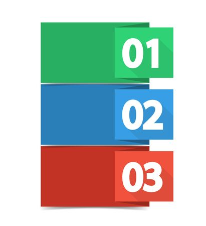 versions: Vector design template with color numbered banners Illustration