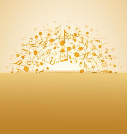 Vektor-Illustration eines abstrakten Musik Hintergrund Standard-Bild - 40967573