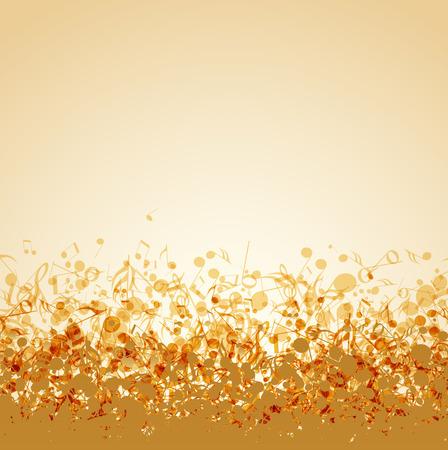 orquesta clasica: Ilustraci�n vectorial de un fondo de m�sica abstracta