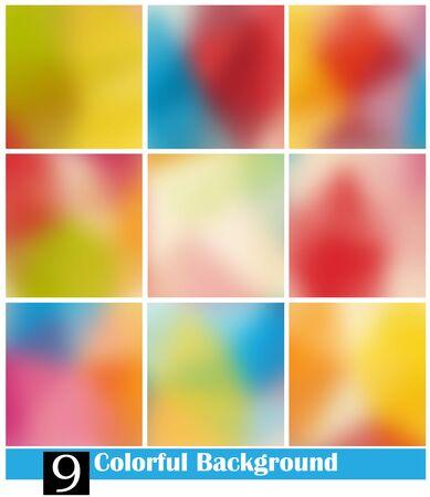 gradient mesh: Vector set 9 color background, gradient mesh Illustration