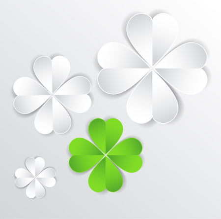 Vector background for different uses green cloverleaf